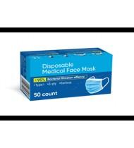Vienkartinės medicininės veido kaukės, 50 vnt.