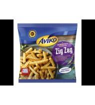 Apkeptos banguotos bulvių lazdelės AVIKO (ZIG ZAG), 450 g