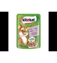 Kačių guliašas KITEKAT su lašišomis, 100 g