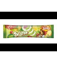 Citrinų,braškių ir ananasų sk. vaisiniai ledai TWISTER GREEN, 71 g