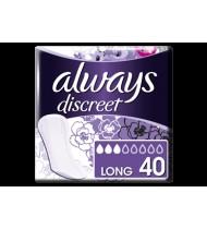 Higieniniai įklotai ALWAYS DISCREET LONG šlap.nelaikantiems, 40 vnt.