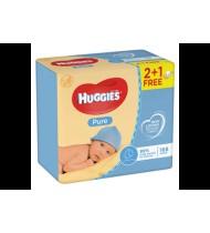 Kūdikių servetėlės HUGGIES PURE (3x56 vnt.), 168 vnt.