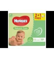 Kūdikių servetėlės HUGGIES NATURAL CARE (3x56 vnt.), 168 vnt.