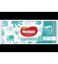 Drėgnosios kūdikių servetėlės HUGGIES ALL OVER CLEAN, 56 vnt.