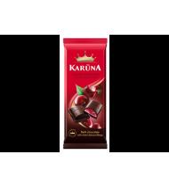 Juodasis šokoladas KARŪNA su vyšnių įdaru, 90 g