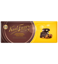 Juodasis šokoladas FAZER su sveikais lazdynų rieš., 200 g