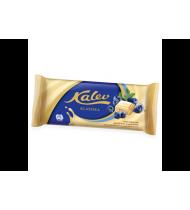 Baltasis šokoladas KALEV su pūstais ryžiais ir mėlynėmis, 95 g