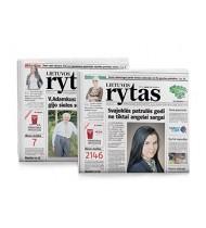 Laikraštis LIETUVOS RYTAS (šeštadienio), 1 vnt.