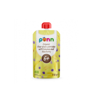 Ekol. 4 grūdų košė PONN su bananais ir mėlyn. (nuo 6 mėn.), 110 g