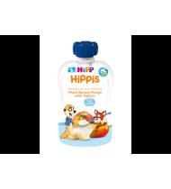 Ekol.persikų,bananų ir mangų tyrelė HIPP su jogurtu (6+), 100 g