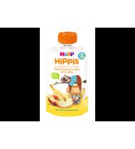 Obuolių, persikų ir bananų tyrelė HIPP su sausain.(12+ mėn.), 100 g