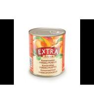 Konservuotos persikų puselės EXTRA LINE, 820 g